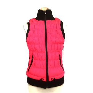 NWT Calvin Klein pink quilted vest S